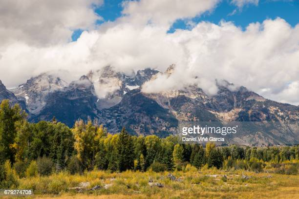 USA, Wyoming, Grand Teton National Park sign