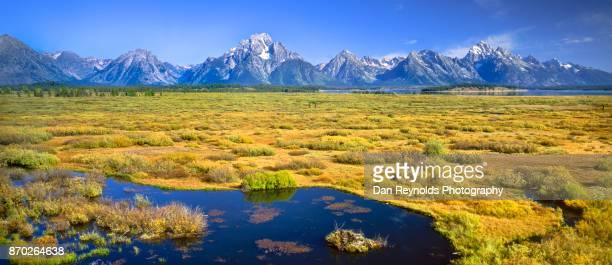 USA, Wyoming, Rocky Mountains, Teton Range, Grand Teton National Park, scenic-Pano