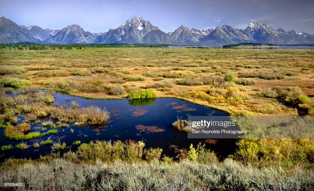 USA, Wyoming, Rocky Mountains, Teton Range, Grand Teton National Park, Toned : Stock Photo