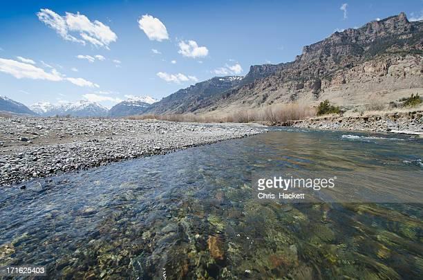 USA, Wyoming, View of Shoshone River