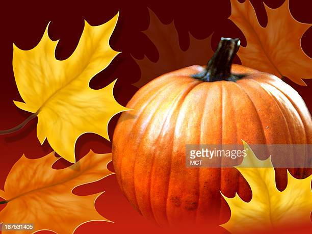 x 48 in / 164x123 mm / 558x419 pixels Image of pumpkin with fall leaves