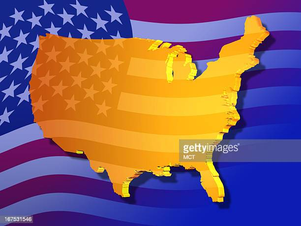 x 48 in / 164x123 mm / 558x419 pixels Image of US superimposed over US flag