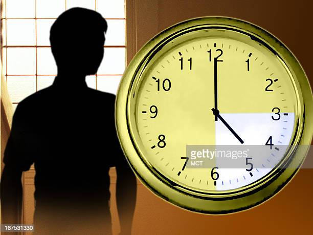 x 48 in / 164x123 mm / 558x419 pixels Image of youth and clock highlighting hours when schoolchildren are often home alone