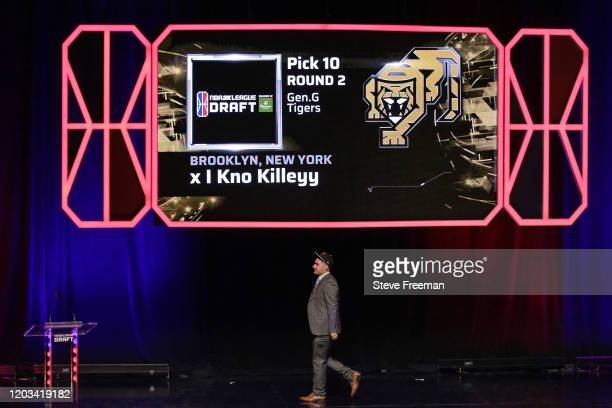 x I Know Killeyy walks the stages after being picked during the NBA 2K League Draft on February 22 2020 at Terminal 5 in New York New York NOTE TO...