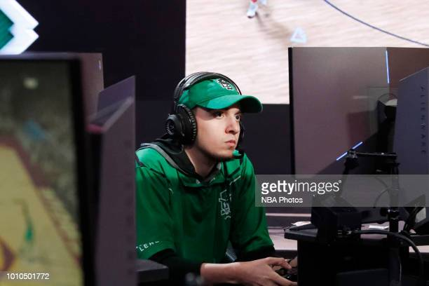 ARS0NAL x of Celtics Crossover Gaming stares on during the game against Cavs Legion Gaming Club on August 3 2018 at the NBA 2K League Studio Powered...