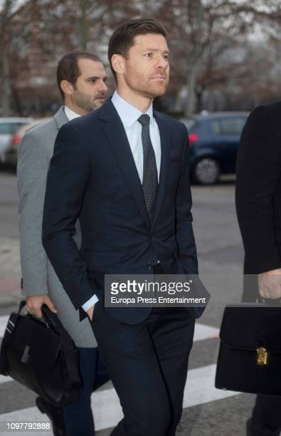 Xabi Alonso Alonso arrives at Audiencia Provincial Court on January 22 2019 in Madrid Spain
