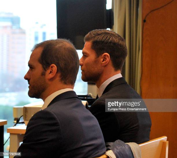 Xabi Alonso Alonso attends Audiencia Provincial Court on January 22 2019 in Madrid Spain