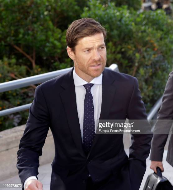 Xabi Alonso attends the Audiencia Provincial Court after facing tax evasion charges on October 09, 2019 in Madrid, Spain.