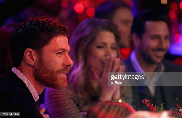 Xabi Alonso Claudio Pizarro and his wife Karla Salcedo attend the FC Bayern Muenchen christmas party at Schuhbeck's Teatro restaurant on December 7...
