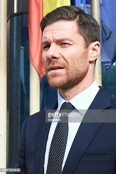 Xabi Alonso leaves the Audiencia Provincial Court after facing tax evasion charges on January 22 2019 in Madrid Spain