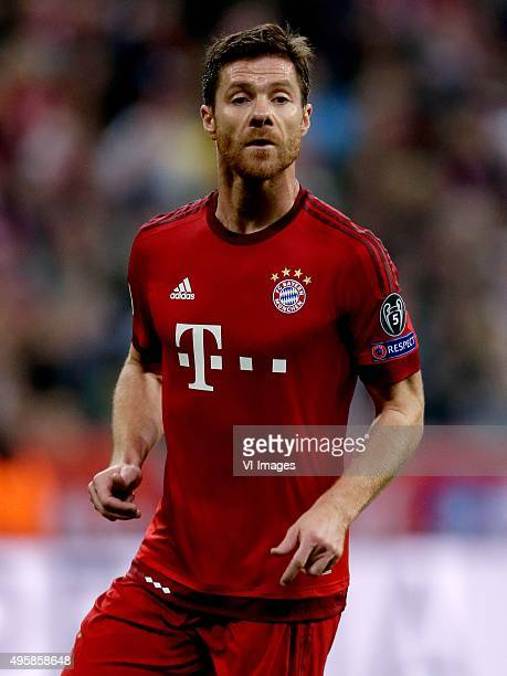 Xabi Alonso of Bayern Munchen during the Champion League group F match between FC Bayern Munich and Arsenal FC on November 4 2015 at the Allianz...