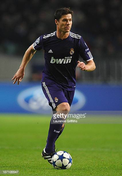 Xabi Alonso of Real Madrid in action during the UEFA Champions League Group G match between AFC Ajax and Real Madrid at the Ajax Arena on November 23...