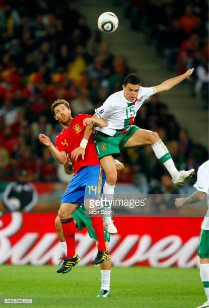 Xabi Alonso / Pepe Espagne / Portugal 8eme de Finale coupe du monde 2010 Cap Town