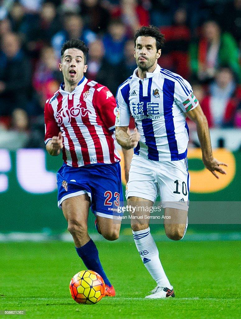 Sporting Gijon v Real Sociedad de Futbol - La Liga