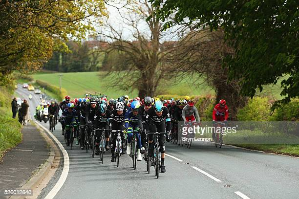 Xabier Zandio of Team Sky and Spain leads the peloton during the first stage of the 2016 Tour de Yorkshire from Beverley to Settle on April 29 2016...