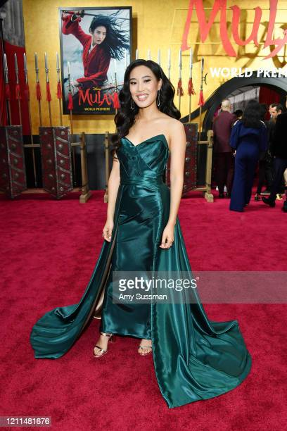Xana Tang attends the premiere of Disney's Mulan on March 09 2020 in Hollywood California