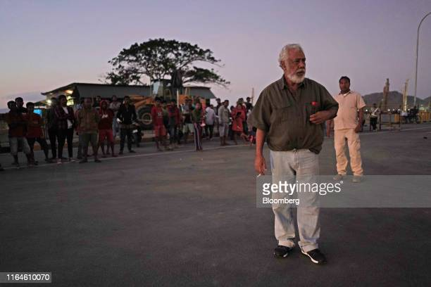 Xanana Gusmao former President of TimorLeste speaks to people in Dili TimorLeste on Monday Aug 26 2019 Twenty years onfrom a referendum that brought...