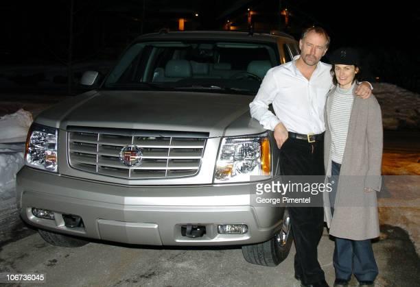 Xander Berkeley and Sarah Clarke with the Cadillac Escalade
