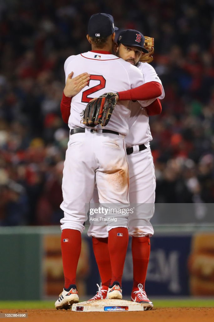 sports shoes 53a26 04dce Xander Bogaerts and Sam Travis of the Boston Red Sox ...
