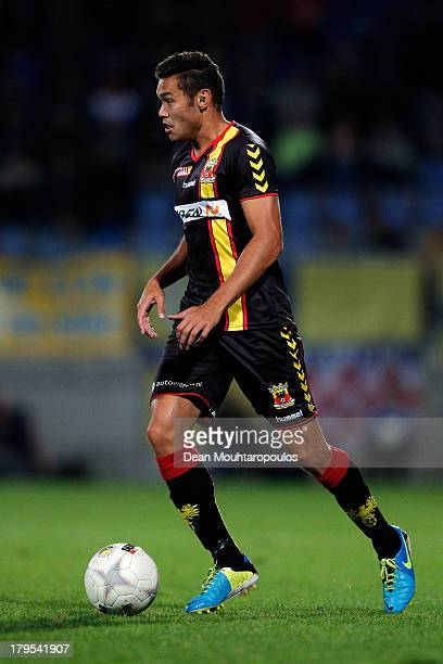 Xander Houtkoop of Go Ahead in action during the Eredivisie match between RKC Waalwijk and Go Ahead Eagles at the Mandemakers Stadion on August 31...