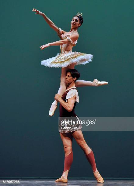 Xander Parish and Yasmine Naghdi in the Royal Ballet's production Sylvia at Hull New Theatre on September 15 2017 in Hull England