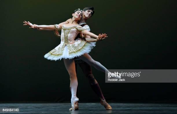 Xander Parish and Yasmine Naghdi in the Royal Ballet's production Sylvia at Hull New Theatre on September 15 2017 in Hull England