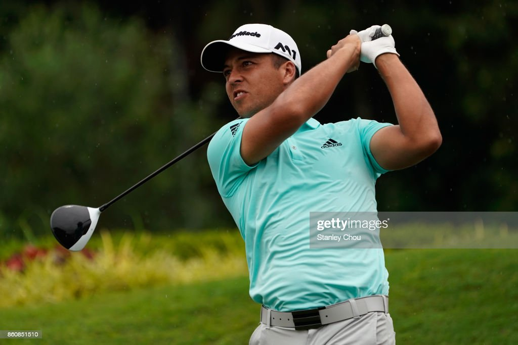 Xander Schauffele of the United States in action during round two of the 2017 CIMB Classic at TPC Kuala Lumpur on October 13, 2017 in Kuala Lumpur, Malaysia.