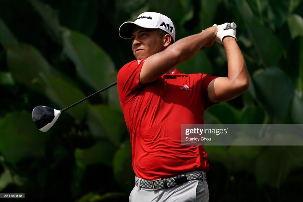 Xander Schauffele of the United States in action during the final round of the 2017 CIMB Classic at TPC Kuala Lumpur on October 15, 2017 in Kuala Lumpur, Malaysia.