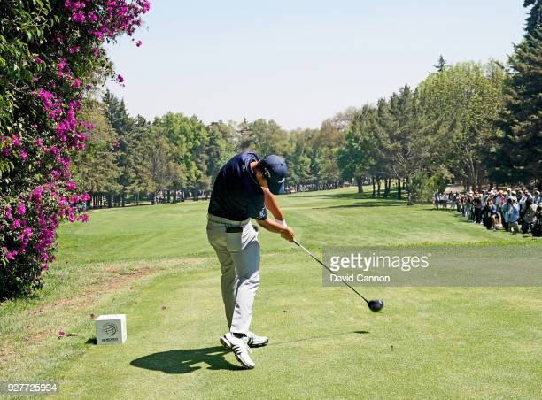 Xander Schauffele of the United States plays a driver from the second tee during the final round of the World Golf ChampionshipsMexico Championship...