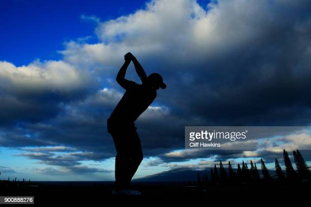 Xander Schauffele of the United States plays a shot during the proam tournament prior to the Sentry Tournament of Champions at Plantation Course at...