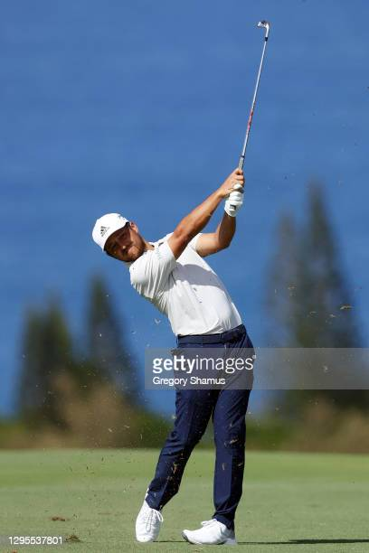 Xander Schauffele of the United States plays a shot on the fourth hole during the third round of the Sentry Tournament Of Champions at the Kapalua...