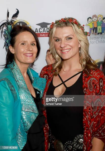Xandra Myriam and Betty Long arrive at Charmaine Blake and Hollywood Tribute Oscar Viewing Dinner to benefit the Faber Ryan Youth Foundation at The...