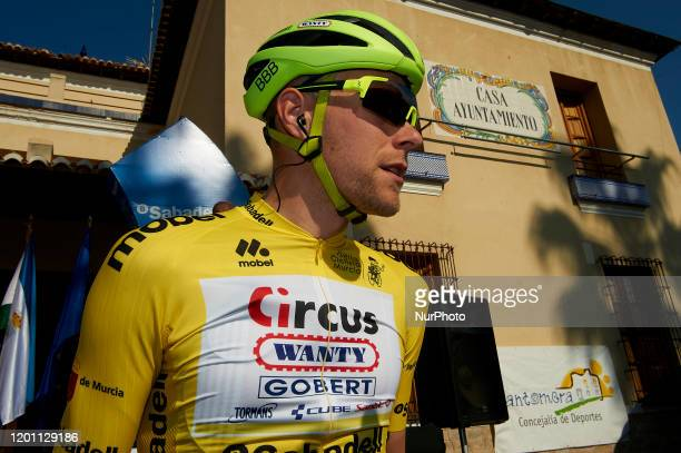 Xandro Meurisse of Belgium and Circus - Wanty Gobert prior to the 40th Vuelta a Murcia 2020, Stage 2 a 179,6 km stage from Santomera to Murcia 179,6...