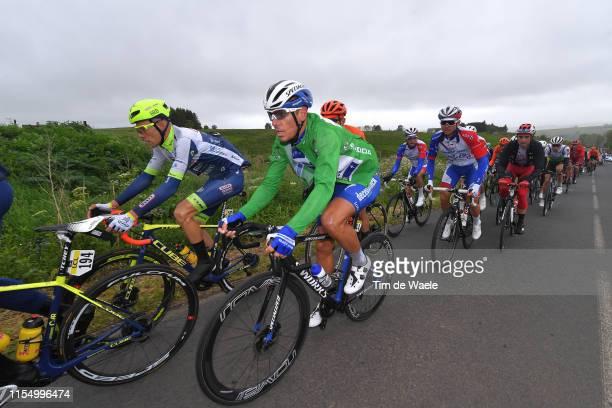 Xandro Meurisse of Belgium and Wanty-Gobert Cycling Team / Philippe Gilbert of Belgium and Team Deceuninck-QuickStep Green Sprint Jersey / during the...