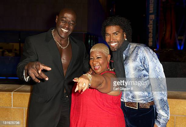 Xango Henry Luenell and Norwood Young appear on the red carpet at The Conga Room at LA Live on November 7 2011 in Los Angeles California
