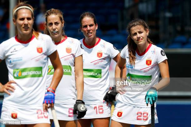 Xantal Gina of Spain Women Maria Lopez of Spain Women Maialen Garcia of Spain Women Lucia Jimenez of Spain Women during the Rabobank 4Nations trophy...