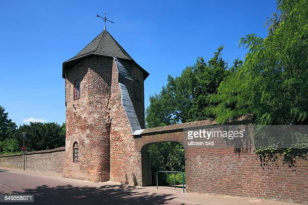 Xanten Lower Rhine North RhineWestphalia NRW city fortification town wall round tower at the North Wall