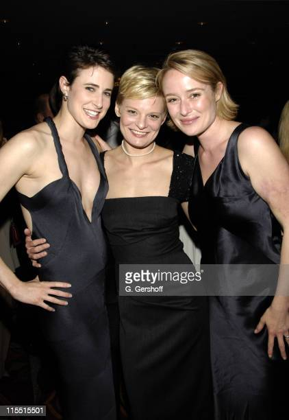 Xanthe Elbrick Martha Plimpton and Jennifer Ehle during 61st Annual Tony Awards The Evening Before at Hilton New York in New York City New York...