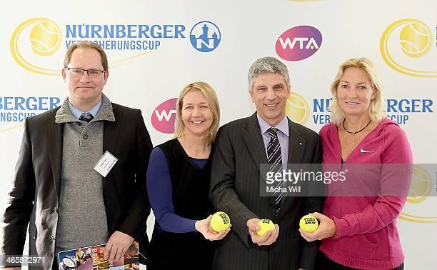 Xaver Faul marketing director of Lotto Bayern tournament director Sandra Reichel chairman Dr Armin Zitzmann of the Nuernberger Versicherungsgruppe...