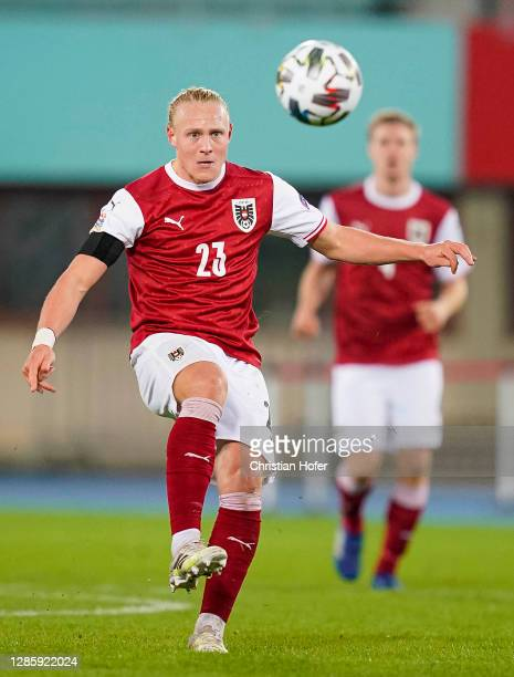 Xaver Schlager of Austria controls the ball during the UEFA Nations League group stage match between Austria and Northern Ireland at Ernst Happel...