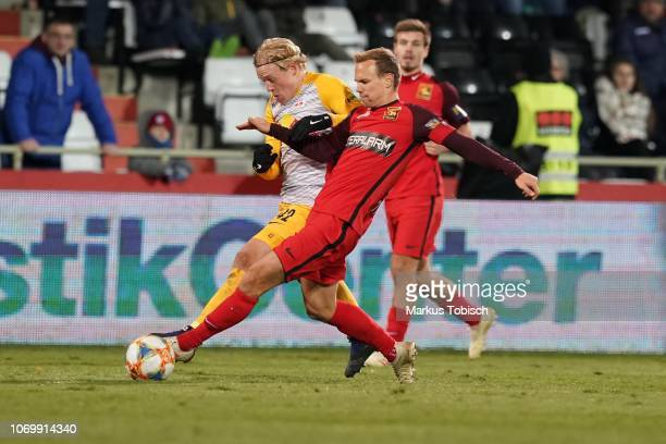 Xaver Schlager of RB Salzburg and Daniel Toth of Admira during the tipico Bundesliga match between FC Admira Wacker and RB Salzburg at BFSZArena on...