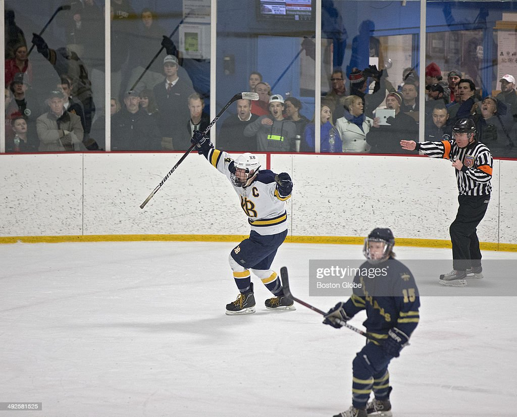 Xaverian Brothers Vs. Arch Bishop Williams At Stoneham Arena : News Photo