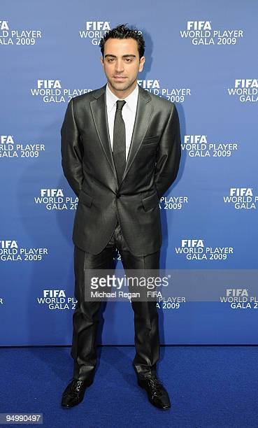 Xavi arrives at the FIFA World Player Gala on December 21 2009 in Zurich Switzerland