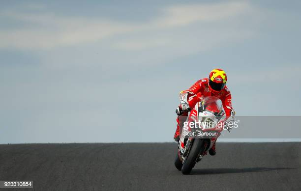 Xavi Fores of Spain and Barni Racing Team rides in the FIM Superbike World Championship Free Practice session ahead of the 2018 Superbikes at Phillip...