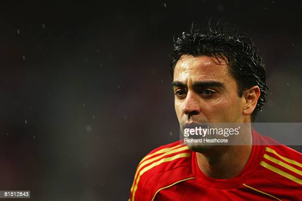 Xavi Hernandez of Spain looks on during the UEFA EURO 2008 Group D match between Spain and Russia at Stadion Tivoli Neu on June 10 2008 in Innsbruck...