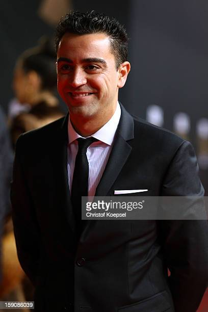 Xavi Hernandez poses during the red carpet arrivals for the FIFA Ballon d'Or Gala 2012 on January 7 2013 at Congress House in Zurich Switzerland