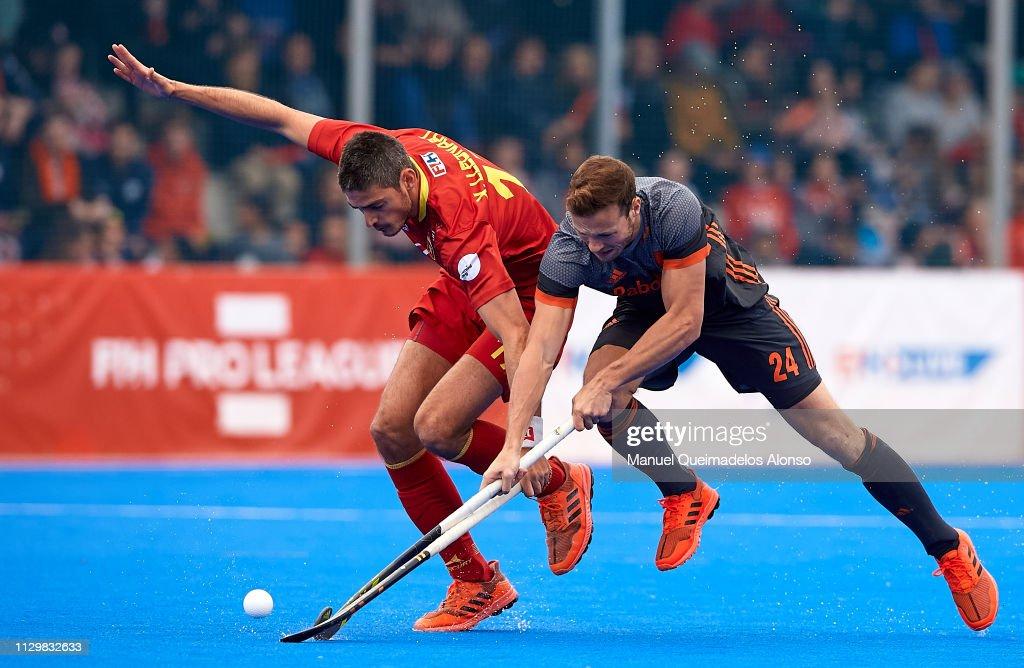 ESP: Spain v Netherlands - Men's FIH Field Hockey Pro League