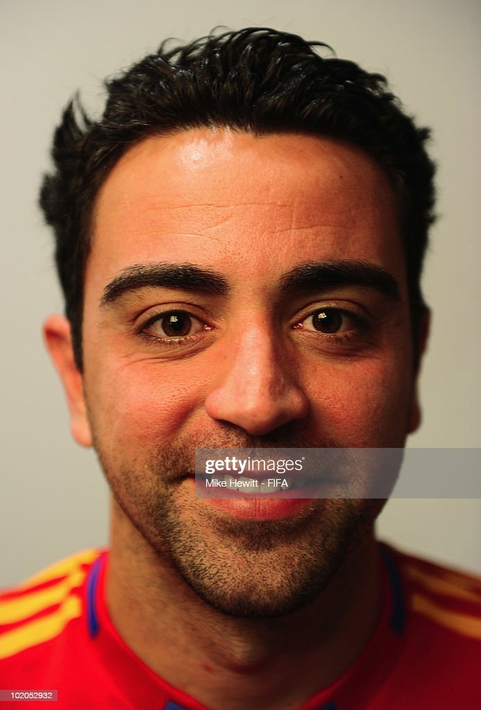 Xavi of Spain poses during the official Fifa World Cup 2010 portrait session on June 13, 2010 in Potchefstroom, South Africa.