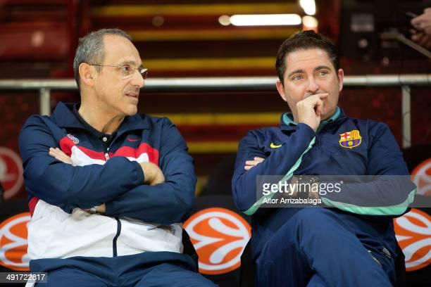Xavi Pascual Head Coach of FC Barcelona and Ettore Messina Head Coach of CSKA Moscow during the Turkish Airlines EuroLeague Final Four Maccabi CSKA...