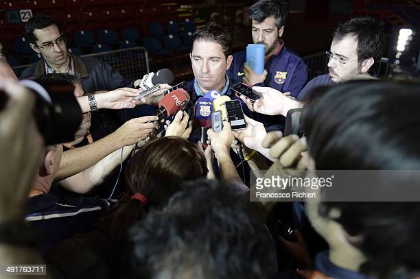 Xavi Pascual Head Coach of FC Barcelona during the Turkish Airlines EuroLeague Final Four FC Barcelona Practice at Mediolanum Forum on May 17 2014 in...